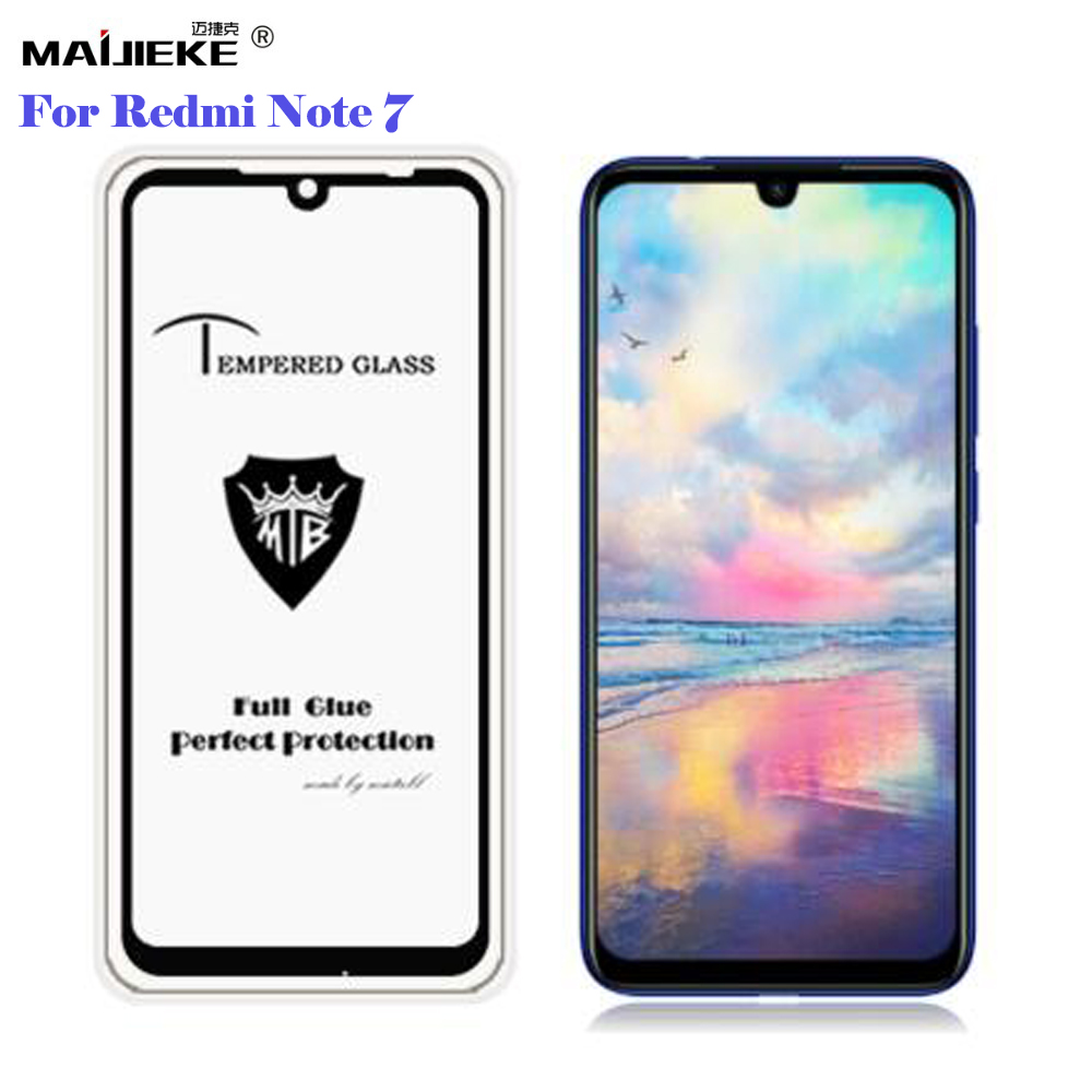 2.5D Full Glue Screen Protector For xiaomi Redmi note 7 Full Cover Tempered Glass Protective Film Ultra-thin For Redmi note7 pro redmi note 7 pro cover