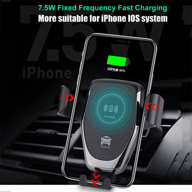 10W Wireless Charger Fast Car Charger Air Vent Mount Phone Holder For iPhone XS Max For Samsung S10 S9 For Huawei QI Chargers 3