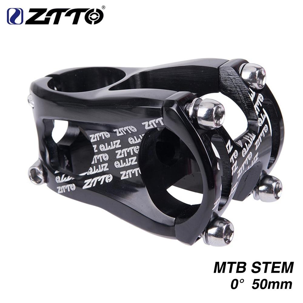 ZTTO Ultralight CNC AL6061 MTB Mountain Bike Bicycle Stem 31.8 50mm 0 Degree High-Strength For XC AM FR Enduro Bicycle Parts dog print keyhole back blouse
