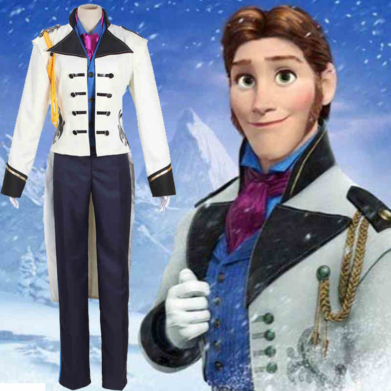 Sale Froze Prince Hans Costume Snow Prince HANS Suits Role Play Full SET  with scarves any size