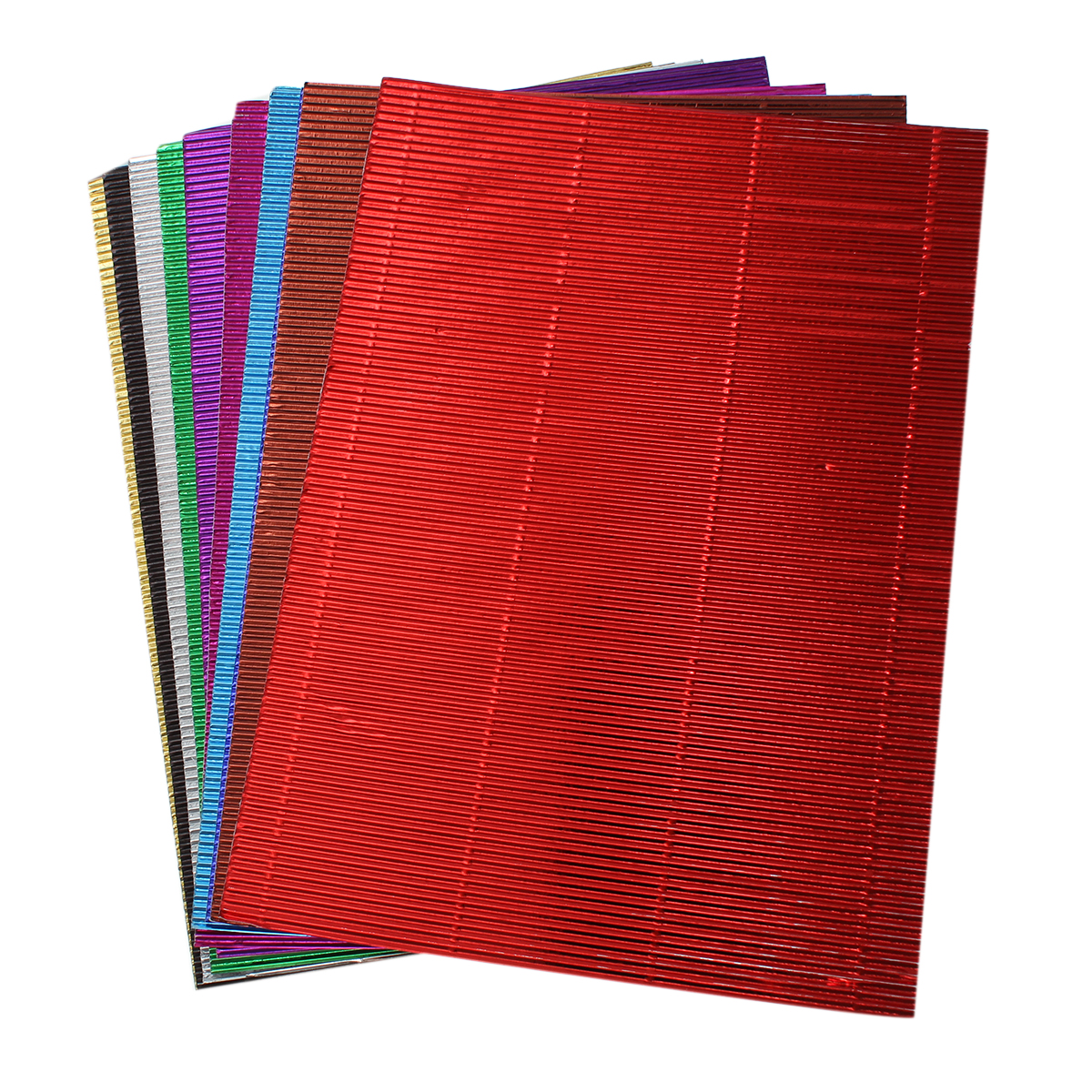 Scrapbook paper aliexpress - 10pcs Multicolor Corrugated Paper Fold Scrapbooking Paper Craft Kid Diy Artwork Materials Home Decor 30 X21cm
