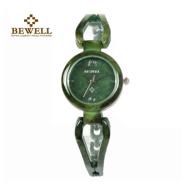 BEWELL relojes de Jade para mujer, reloj de pulsera con gemas, resistente al agua, regalo, amigos, 077A