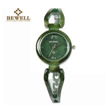 Bewell senhoras jade relógios feminino topo marca de luxo à prova dwaterproof água gem relógio novo pulseira gem relógio para gril como presente masculino amigos 077a