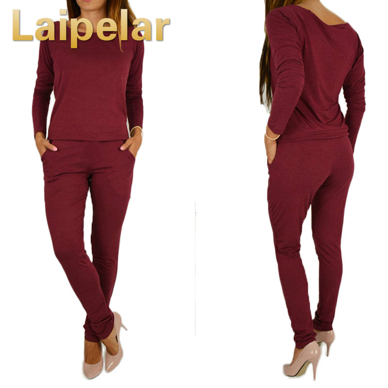 Autumn women casual jumpsuits long sleeves overalls for women rompers combinaison femme sexy bodysuits lady outwear playsuits