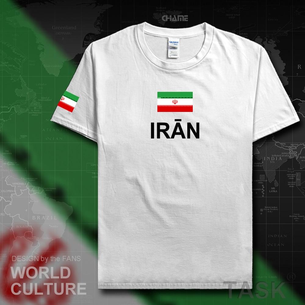 Iran Islamic men t shirts fashion 2017 jerseys nations team 100% cotton t-shirt meeting fitness brand clothing tees flag IR tops