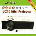 Nova UC40 Projetor Digital LED Mini Pico projetor Projetor AV VGA A/V USB & SD VGA HDMI Home Theater Projetor de Cinema para coreano