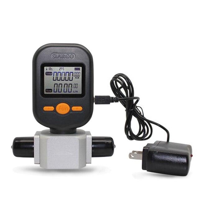 New Professional High Quality 200L/min Digital Gas Air Nitrogen Oxygen Flow Meter MF5712 High Accuracy Protable Gas Flow Meter