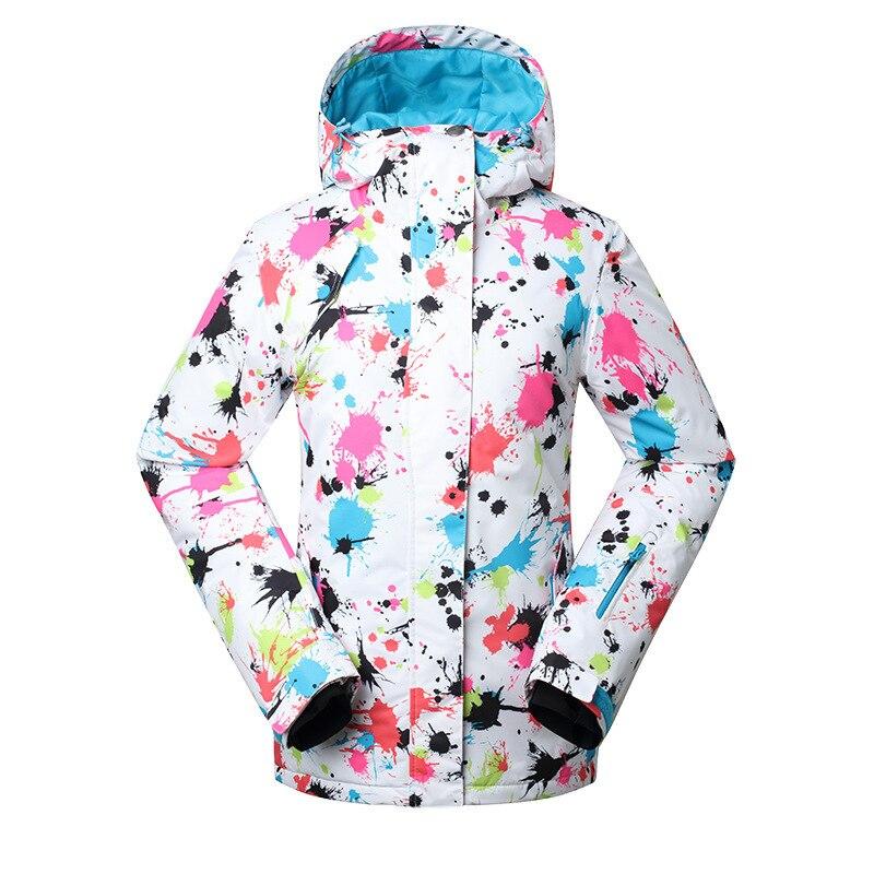 Gsou neige dames Ski costume planche unique Ski vêtements femmes veste coton 1408-004