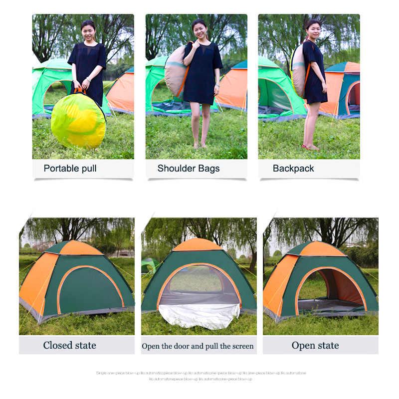 Tienda de campaña automática emergente al aire libre de la Familia 1 2 3 4 personas múltiples modelos fácil abrir tiendas de campamento instantáneo ultraligero sombra