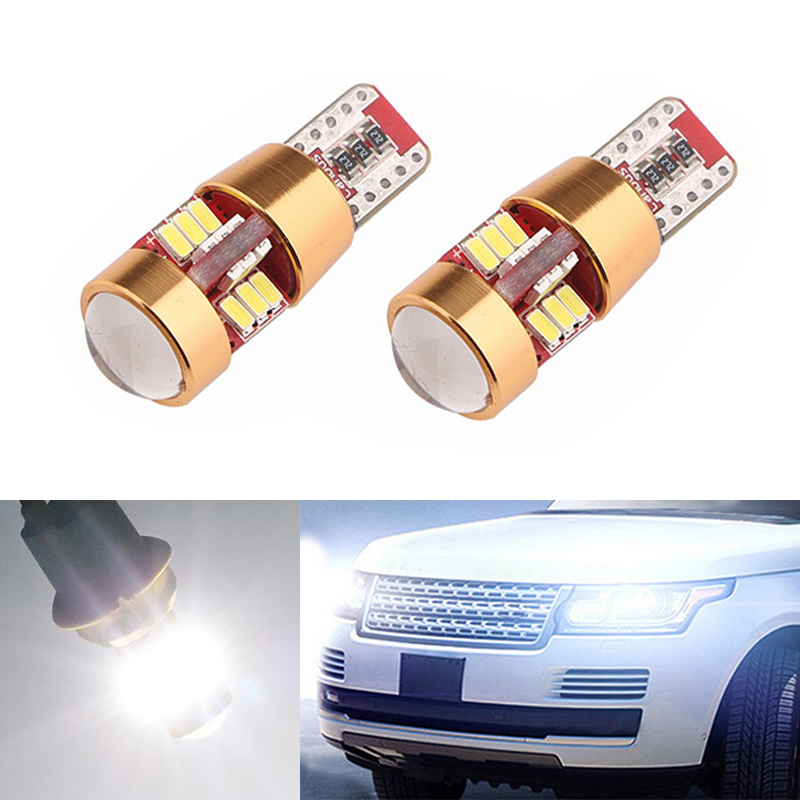 BOAOSI 2x T10 W5W LED Wedge Light Marker Lamps Bulb For Land Rover v8 discovery 4 2 3 x8 freelander 2 defender A8 a9