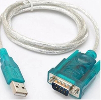 Free Shipping HL-340 New USB to RS232 COM Port Serial PDA 9 pin DB9 Cable Adapter support Windows7-64