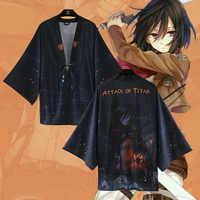 Japanese Fashion Kimono Haori Attack on Titan Levi Mikasa Ackerman Cloak Cosplay Costume Shingeki no Kyojin Casual Yukata