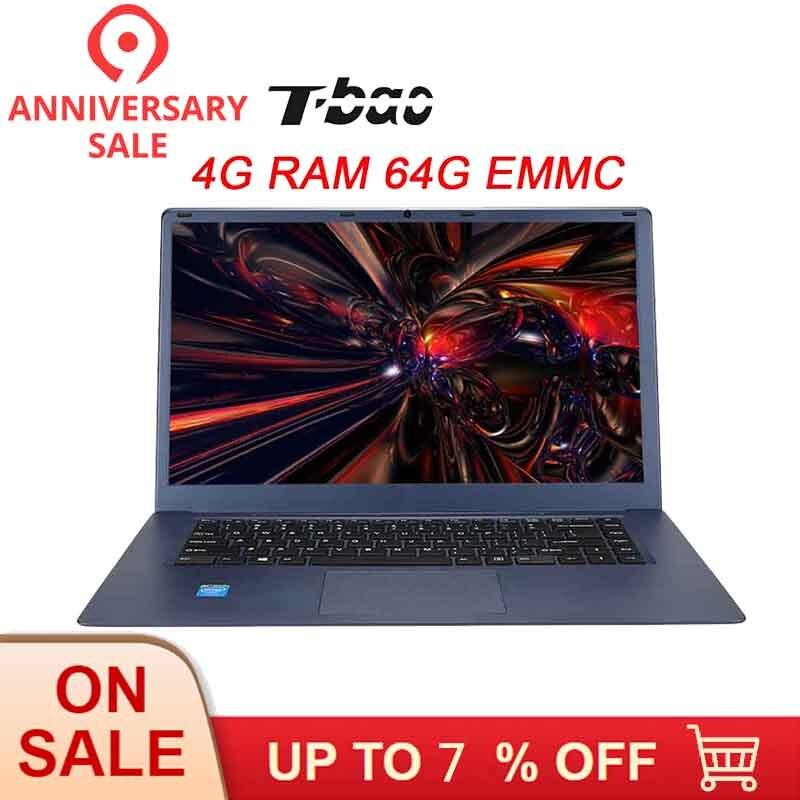 T-bao Tbook R8 Computer Portatili da 15.6 pollici 4 GB DDR3 RAM 64 GB EMMC Computer Portatili Notebook 1080 P FHD schermo per Intel Cherry Trail X5-Z8350