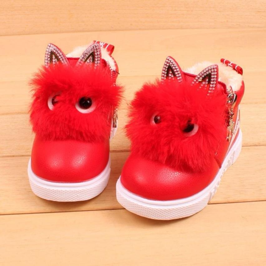 Children Fashion Cartoon Zipper Boots Boys Girls Sneaker Kids Winter Warm Baby Casual Shoes Tenis Infantil 2