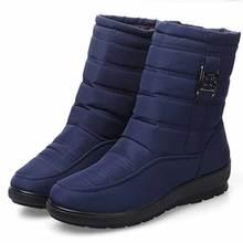 Плюс Размеры зимняя нескользкая подошва Женские зимние ботинки Водонепроницаемый гибкие Ботинки Обувь 2017 Для женщин Повседневное уютный Ботинки