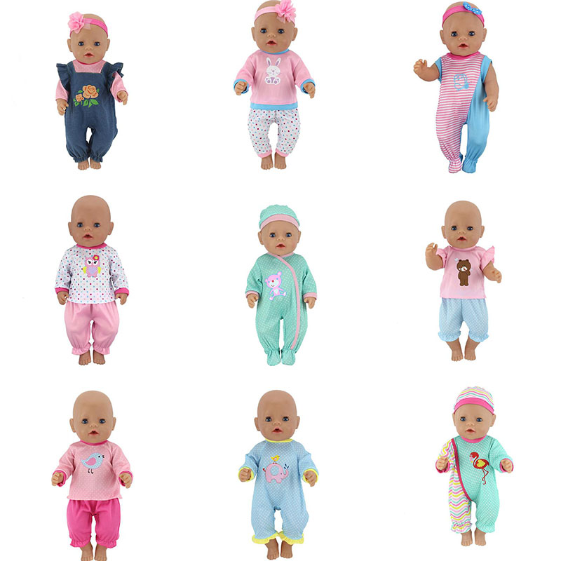 Leisure Suit Doll Clothes Fit 17 Inch 43cm Doll Clothes Born Baby Doll Accessories Suit For Baby Birthday Festival Gift