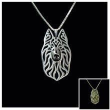 Retail Long Haired Dutch Shepherd bezel pendant jewelry silver plated(China)