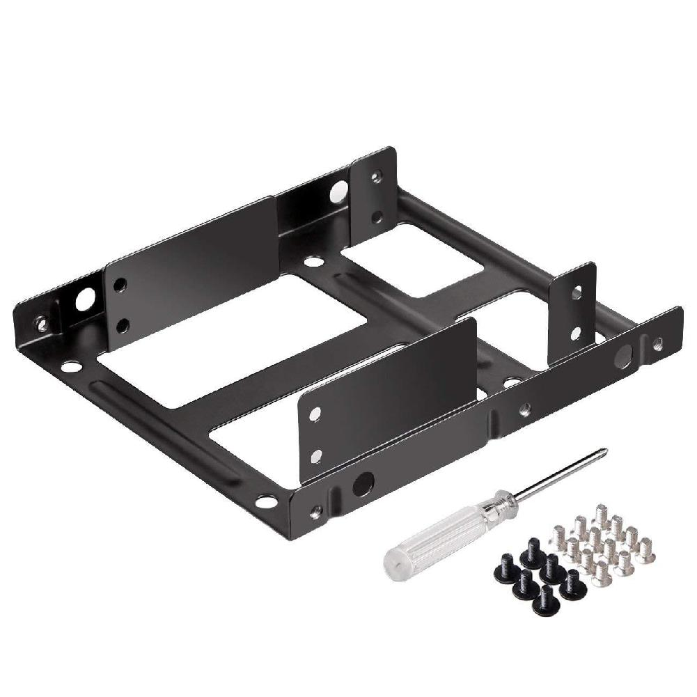 2.5 Inch To 3.5 Inch External HDD SSD Metal Mounting Kit Adapter Bracket With SATA Data Power Cables & Screws