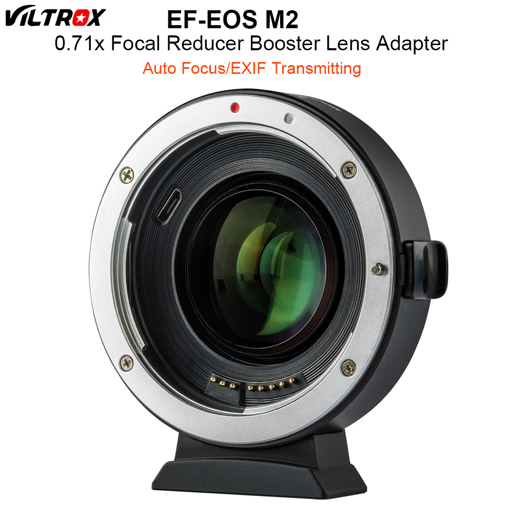 VILTROX EF-EOS M2 автофокусом 0.71x редуктор Скорость Booster Крепление объектива адаптер для объектива Canon EF к EOS M5 M6 M10 M50 M10 Камера