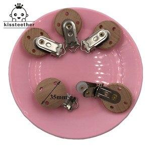 Image 5 - Clip de madera para chupete de 20 piezas, accesorios de lactancia, Clips para chupete de haya, dentición masticable Diy, Clip para chupete, cadenas para mordedor de bebé