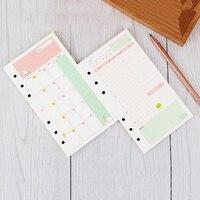 Leuke Girly Serie Notebook Papers A6 Dagboek Kleur Inner Core Planner Filler Papier Binnenpagina Creatieve Briefpapier