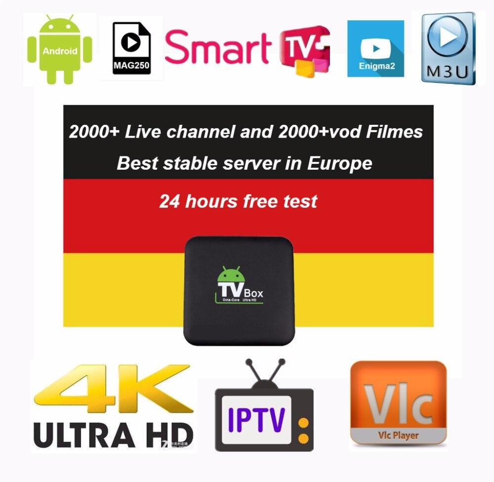 Europe IPTV Germany IPTV French IPTV 2000+ live Free VOD Support Android m3u enigma2 mag250 TVIP 2000+Vod