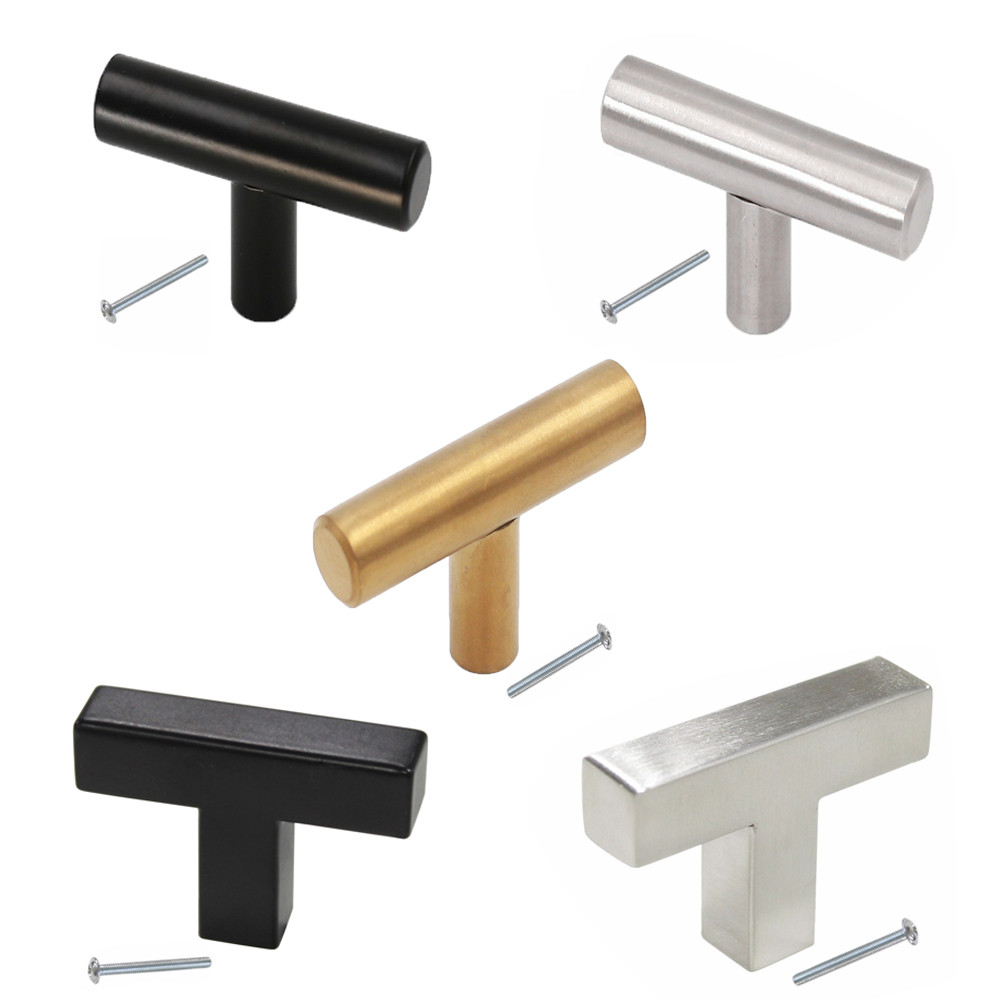 Drawer Handles And Knobs Stainless Steel Single Hole 2inch Length Modern Kitchen Cabinet ...