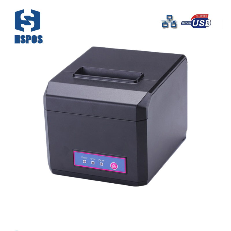 RJ45 pos printer manufacturer 80mm thermal receipt printer with auto cutter HS-E81UL waterproof restaurant printing bill machine mqtt could printing solution gprs 2 inch thermal receipt printer with usb lan port support win10 and linux auto cutter