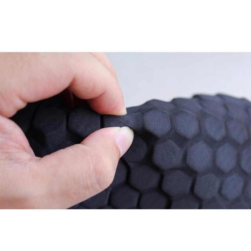 Yuerlian 1 par Honeycomb almohadilla de codo de baloncesto Scotch voleibol Gel Brace patines Protector de cintas rodilleras deportivas de seguridad