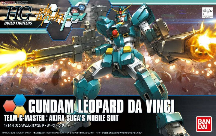 1PCS Bandai HG Build Fighters HGBF 042 1/144 Leopard Da Vinci Gundam Mobile Suit Assembly Model Kits Anime action figure Gunpla стоимость