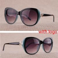 Vazrobe Women's Sunglasses with Rhinestones Womens Sunglasses Glasses 2018 Brand Designer 2019 Luxury Woman Gradient Retro UV400
