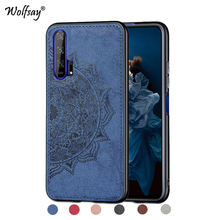 Huawei Honor 20 Pro Shockproof Soft TPU Silicone Cloth Texture Phone Bumper Cover Fundas