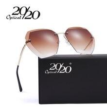 20/20 новые модные женские туфли Солнцезащитные очки для женщин Элитный бренд Дизайн покрытие градиентные линзы Защита от солнца очки вождения металлический Рамка Очки UV400