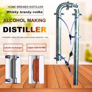 Image 2 - 35L/60L Home brewed distiller New Tubular Exchanger Distiller Moonlight Alcohol machine with copper net distillation tower