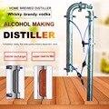 Torre de destilación de una sola venta con malla de cobre se puede utilizar con 20L 35L 60L fermentador familia máquina de elaboración de cerveza equipo