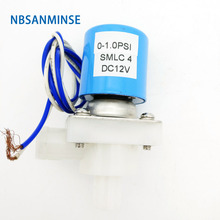 SMLC 3 , SMLC 4 Series 2 Way Normally Closed Plastic Water Solenoid Valve Special Diaphragm For Foods And Separate Type Sanmin original airtac fluid control valve 2 2way 2s series direct acting and normally closed 2sh030 08