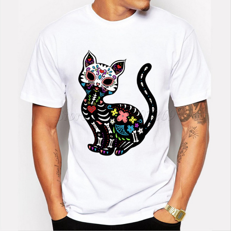 465d0166f69505 New brand men s Snow White sugar skull printed t shirt colorful fashion  design for Halloween male casual tops hipster funny tee-in T-Shirts from  Men s ...