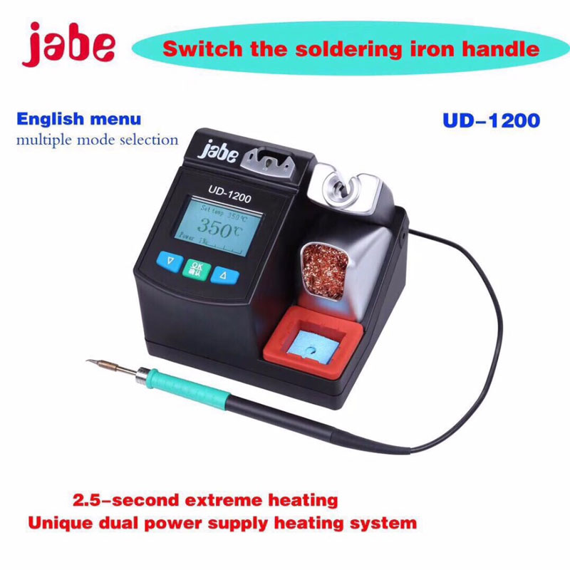 English version UD 1200 Precision Smart Lead free Soldering Station 2 5S Rapid Heating With Dual