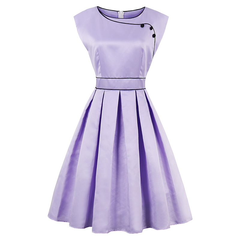Modstreets verano 1950 s vendimia Vestidos rodilla mujeres luz ...