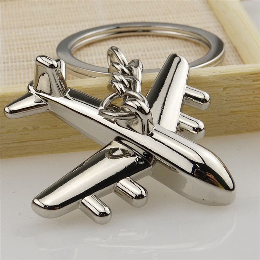 Barra elegante 1 pc modelo de aeronaves chaveiro ao ar livre chaveiro pingente chaveiro bonito chaveiro de metal impressionante impressão acessório #313