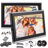 EinCar 10.1 Inch Headrest DVD Player Portable DVD Headrest Monitor For Car Digital LCD Screen Headrest DVD Player with Buttons
