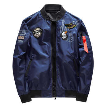 Male Bomber Jacket Men Army Military Pilot Jacket Badge Embroidery Baseball Jacket Double Sided Motorcycle Coat Big Size 5XL 6XL - DISCOUNT ITEM  28% OFF All Category
