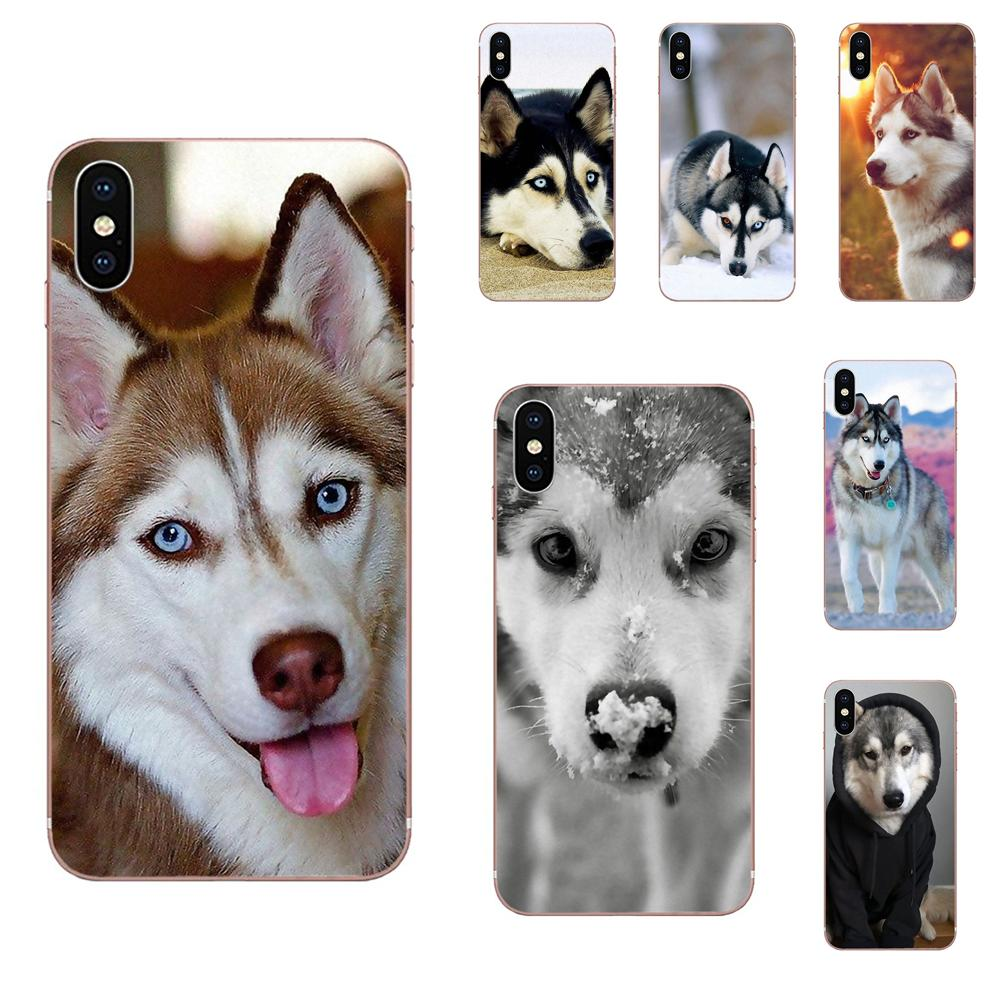 For Huawei Honor 4C 5A 5C 5X 6 6A 6X 7 7A 7C 7X 8 8C 8S 9 10 10i 20 20i Lite Pro TPU Call Box Design Lovely Dog <font><b>Siberian</b></font> <font><b>Husky</b></font> image