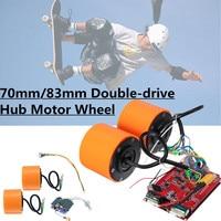 70mm 83mm 350W Brushless hub motor wheels kits for Electric Skateboard Off Road Skateboard Drive 4 Wheel Longboard Mountains