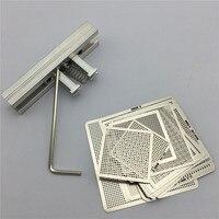 27pcs BGA Directly Heat Rework Reballing Universal Stencil Template BGA Reballing Kit Station