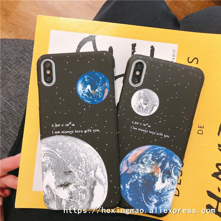 Phone Bags & Cases Cellphones & Telecommunications Sweet-Tempered Cartoon Cool Universe Case For Iphonex Xr Xsmax Case For Iphone6 7 8plus Fashion Eclipse Of The Moon Hard Pc Phone Cases Funda
