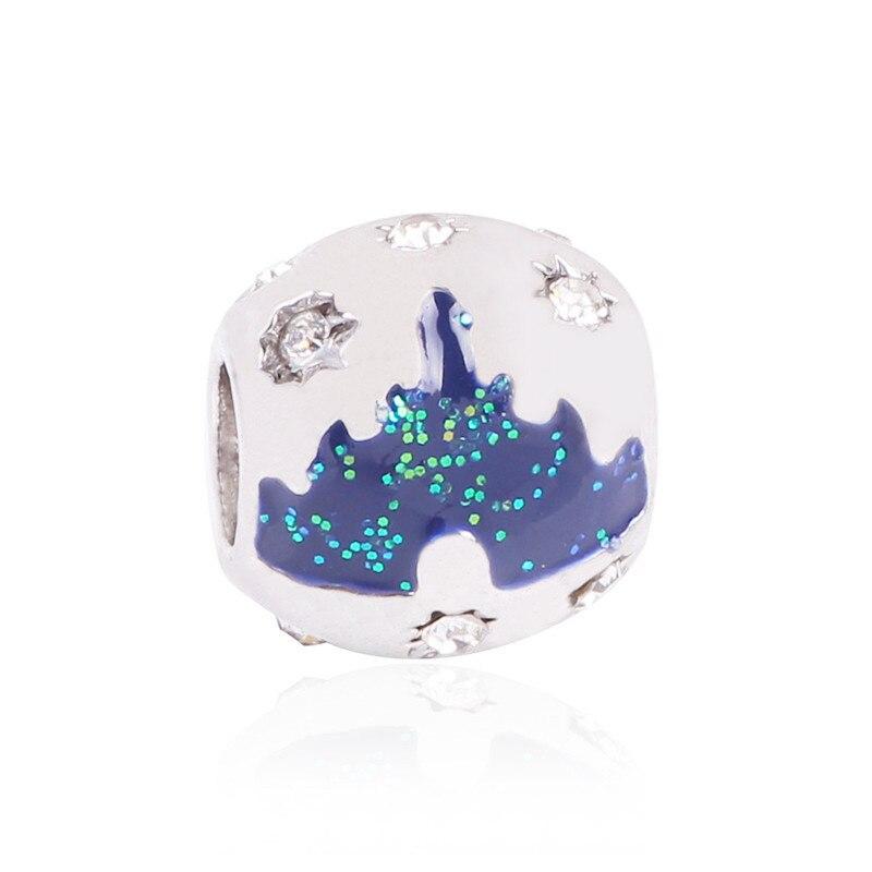 AIFEILI NEW Silver Color Watermelon Note Mickey Cake DIY Love Bead Charms For European Pandora Charm Bracelets