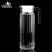 Water Jug 1100ml Borosilicate Glass Bottles with Stainless Steel Lid Modern Design Drinkware Ice Tea Jar With