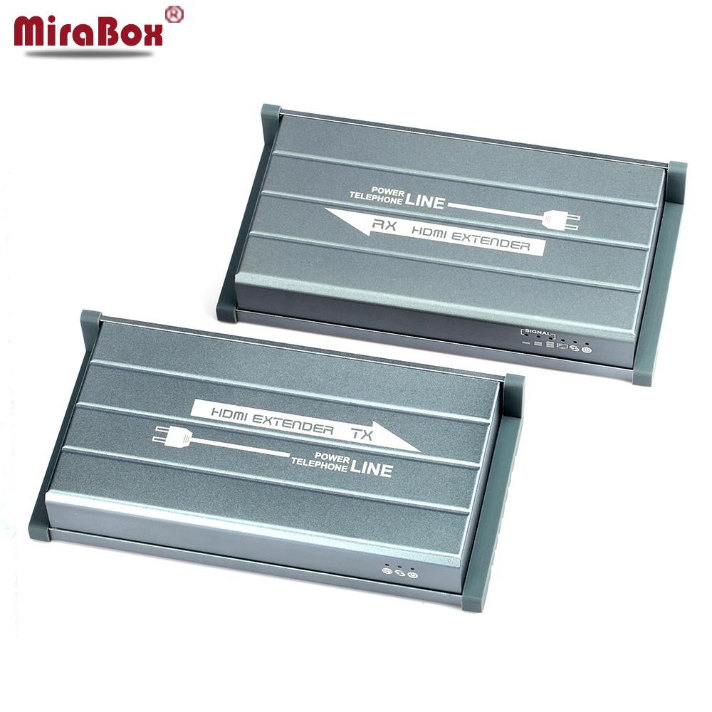 MiraBox HDMI Power Line Extender Support 1080p 300m wireless transmission IR No line Wireless HD video HDMI Transmitter Receiver 580hdmi 5 8ghz ir remote extender 300m hdmi wireless av transmitter