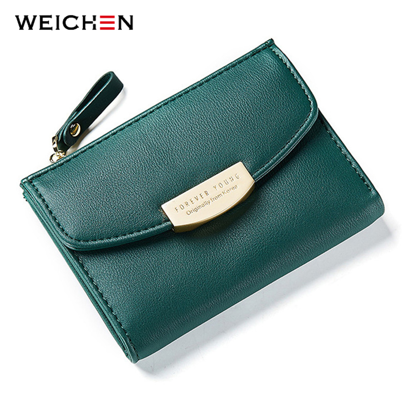 WEICHEN High Quality Women Wallets with Zipper Coin Pocket & Card Holder Ladies Purses Brand Designer Leather Female Wallet Hot weichen latest pu leather zipper